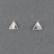 Wampum Triangle Post Earring