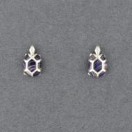 Wampum Turtle Post Earring