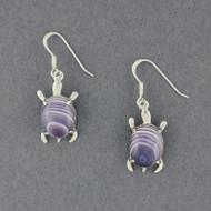 Wampum Turtle Earring