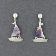 Wampum Boat Earring
