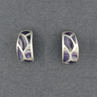 Wampum Curved Mosaic Earring