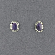 Wampum Oval Bead Post Earring