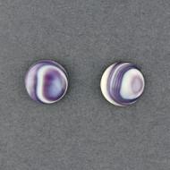 Wampum Large Round Post Earring