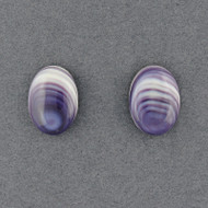 Wampum Large Oval Post Earring