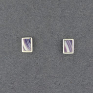 Wampum Rectangle Post Earring