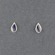 Wampum Small Teardrop Post Earring