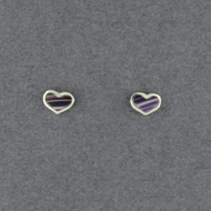Wampum Small Heart Post Earring