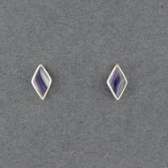 Wampum Rhombus Post Earring
