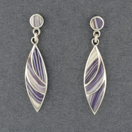 Wampum Split Curve Post Earring