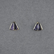 Wampum Split Triangle Post Earring