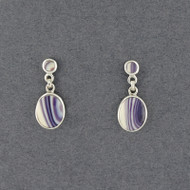 Wampum Oval and Round Post Earring
