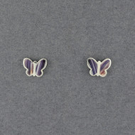 Wampum Butterfly Post Earring