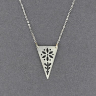 Triangle Flower Necklace