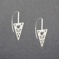 Triangle Heart Earrings
