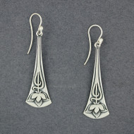 Long Lotus Earrings