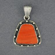 Mata Ortiz Medium Orange Pendant