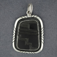 Mata Ortiz Large Black Pendant