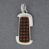 Mata Ortiz Medium Orange & Black Pendant