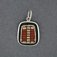 Mata Ortiz Small Red, Tan & Black Pendant