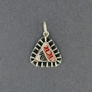 Mata Ortiz Mini Red, Black & Tan Triangle Pendant