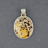 Sterling Silver Peanut Wood Pendant