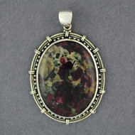 Sterling Silver Eudialyte Large Oval Pendant