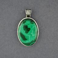 Sterling Silver Malachite Pendant