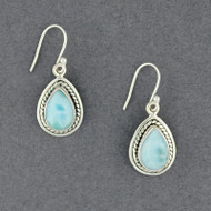 Sterling Silver Larimar Earrings