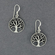 Sterling Silver Detailed Tree of Life Earrings