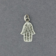 Sterling Silver Detailed Hamsa Pendant