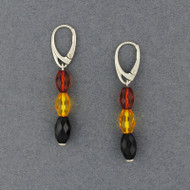 Amber Oval Beaded Earrings