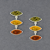 Amber Multi Color Post Earrings