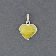 Butterscotch Amber Heart Pendant