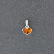 Amber Mini Heart Pendant