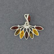 Amber Multi Color Fan Pendant