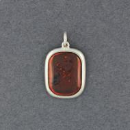 Amber Simple Square Pendant