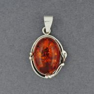Amber Oval Pendant