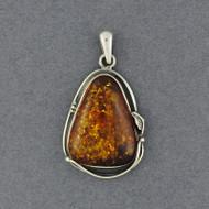 Amber Triangle Pendant