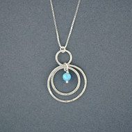 Opal and Circles Necklace