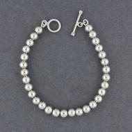Sterling Silver 6mm Beaded Bracelet