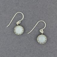 Moonstone in Dotted Frame Earrings