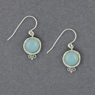 Chalcedony in Frame Earrings