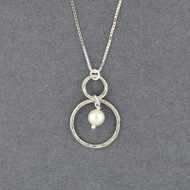 Pearl in Circles Necklace