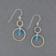 Opal and Circles Earrings