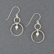 Pearl in Circles Earrings