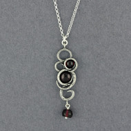 Garnet Swirl Necklace