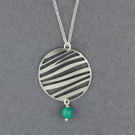 Turquoise Striped Circle Necklace