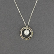 Pearl in Layered Circle Necklace