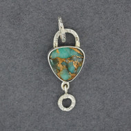 Flashes Amazonite and Bronze Pendant