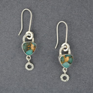 Flashes Amazonite and Bronze Earrings